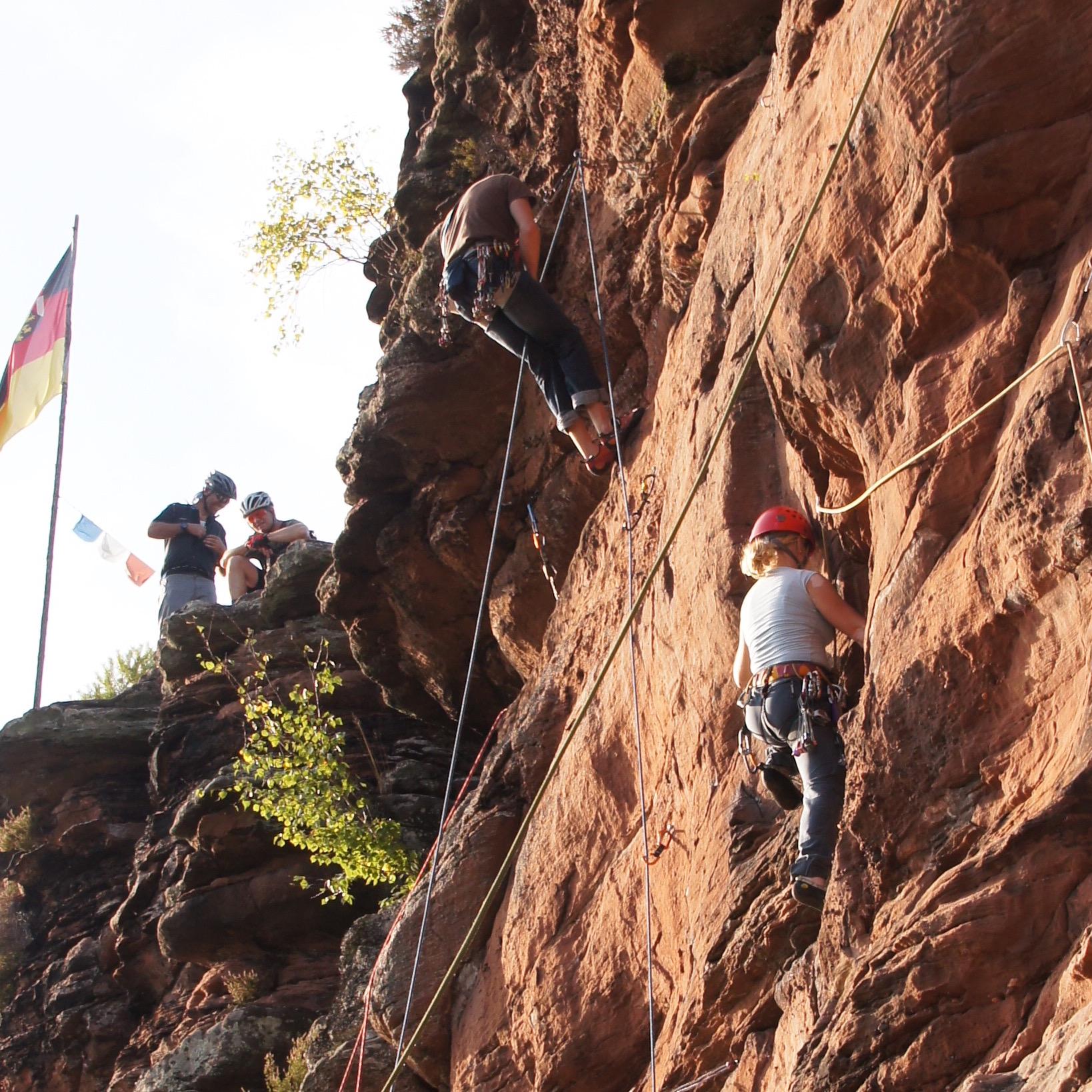 Felsen Klettern Pfälzerwald